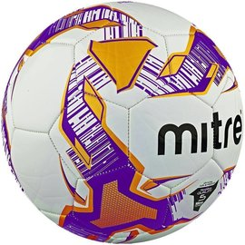 mitre Mitre Venom 32 Panel Training Football, White/Orange/Purple, Size 5