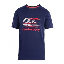 Canterbury Canterbury Junior Vapodri Poly Logo Tee, Patriot Blue (2018)