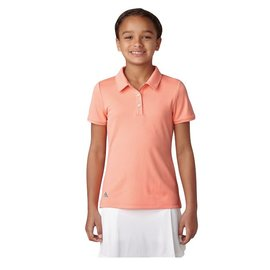 Adidas Adidas Junior Tournament SS Polo Shirt, Chalk Coral (2018)