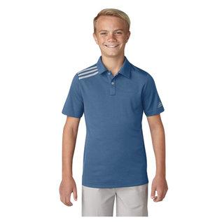 Adidas Adidas Junior 3 Stripe Polo Shirt, Trace Royal (2018)