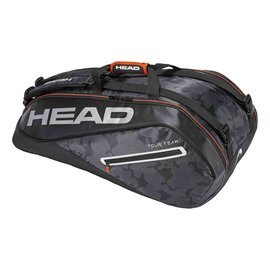 Head Head Tour Team Supercombi 9 Racket Bag, Black/Silver (2018)