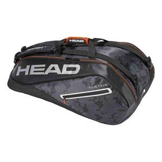 Head Head Tour Team Supercombi 9 Racket Bag, Black/Silver (2018)