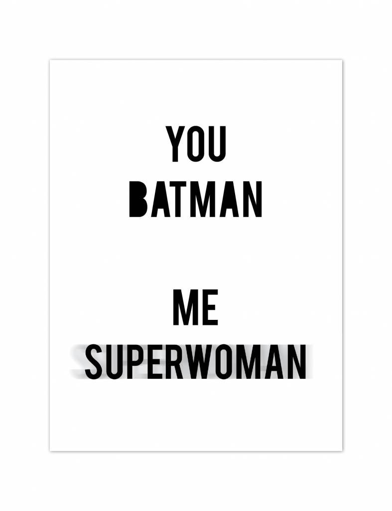 Poster - You batman me superwoman