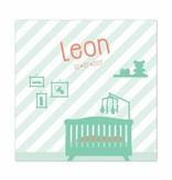 Geboortekaartje Leon in mint