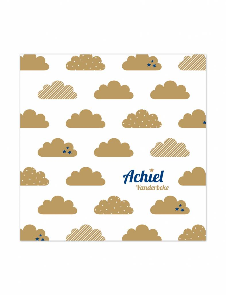 Geboortekaartje Achiel in de wolken