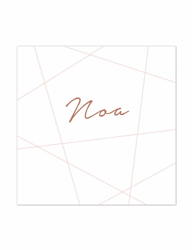 Geboortekaartje Noa strak