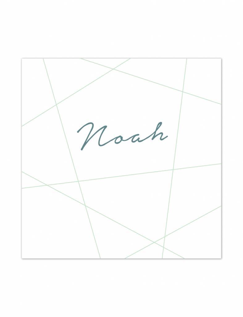 Geboortekaartje Noah strak