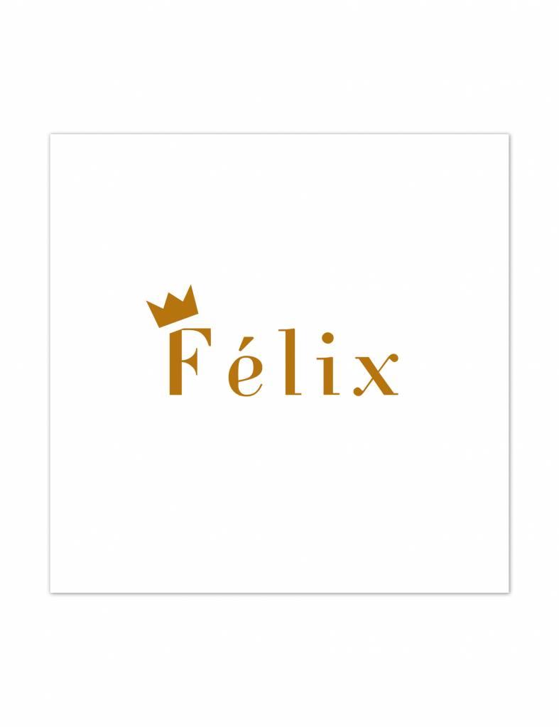 Geboortekaartje Felix kroontje