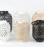 """Bamboe lantaarn """"Lattice"""" medium"""