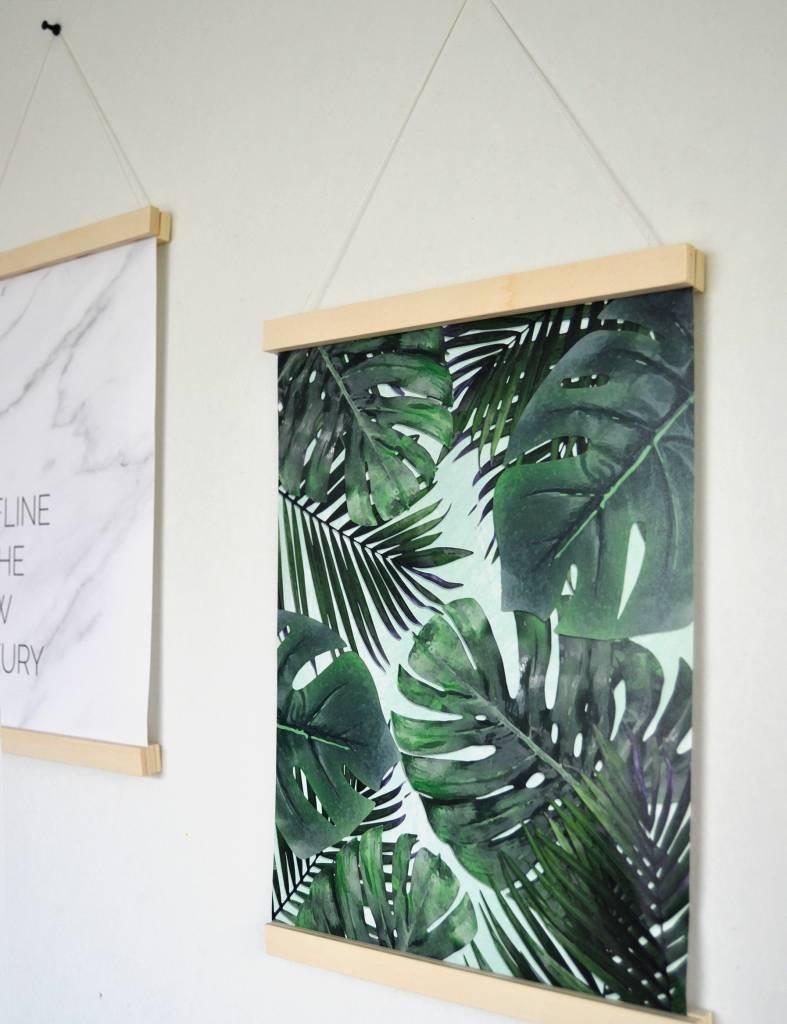Ophangsysteem houten posterframe A3