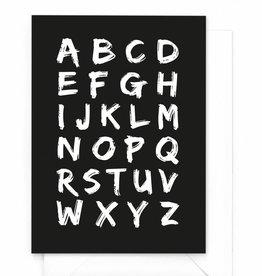 """Wenskaart X&O """"Alfabet"""""""