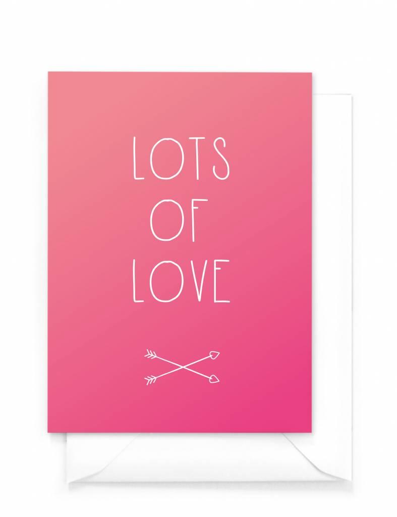 Wenskaart - Gradient - Lots of love