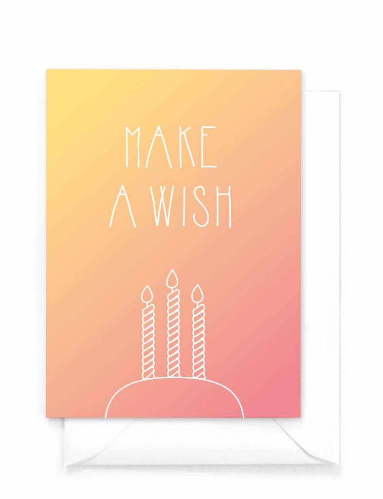 Wenskaart - Gradient - Make a wish