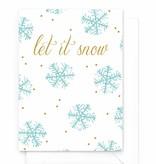 Wenskaart - Kerst - Let it snow