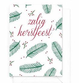 """Wenskaart Kerst """"Zalig kerstfeest"""""""