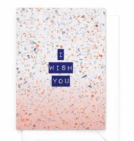 "Wenskaart Marble ""I wish you"""