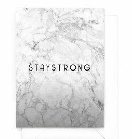 "Wenskaart Marble ""Stay strong"""