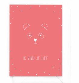 """Wenskaart Love """"Panda"""""""