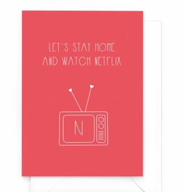 """Wenskaart Love """"Netflix"""""""