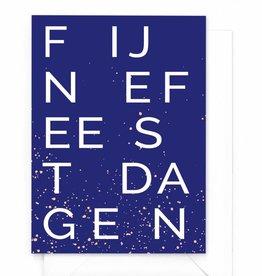 """Wenskaart Kerst """"Fijne feestdagen letter"""""""