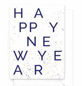 "Wenskaart nieuwjaar ""Happy Newyear"""