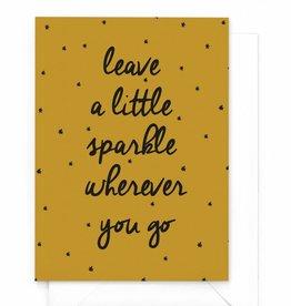"Wenskaart kerst ""Leave a sparkle"""