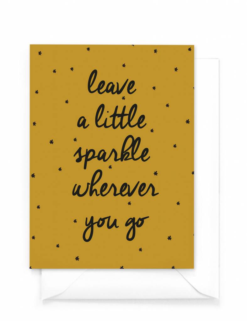 Wenskaart kerst - Leave a little sparkle wherever you go