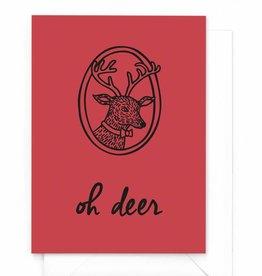 """Wenskaart kerst """"Oh deer"""""""