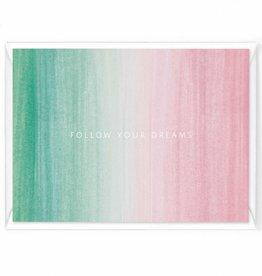 "Wenskaart Colorstripes ""Follow your dreams"""