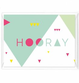 "Wenskaart Happy color ""Hooray"""
