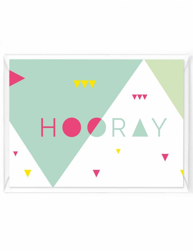 Wenskaart - Happy color - Hooray