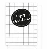Wenskaartenset Kerst zwart-wit