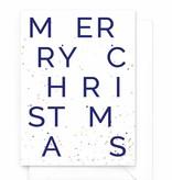 Wenskaartenset Kerst spetter