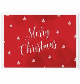"""Wenskaart Kerst """"Merry christmas aquarel"""""""