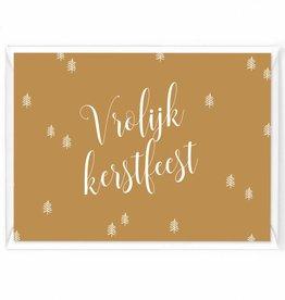 """Wenskaart Kerst """"Vrolijk kerstfeest aquarel"""""""