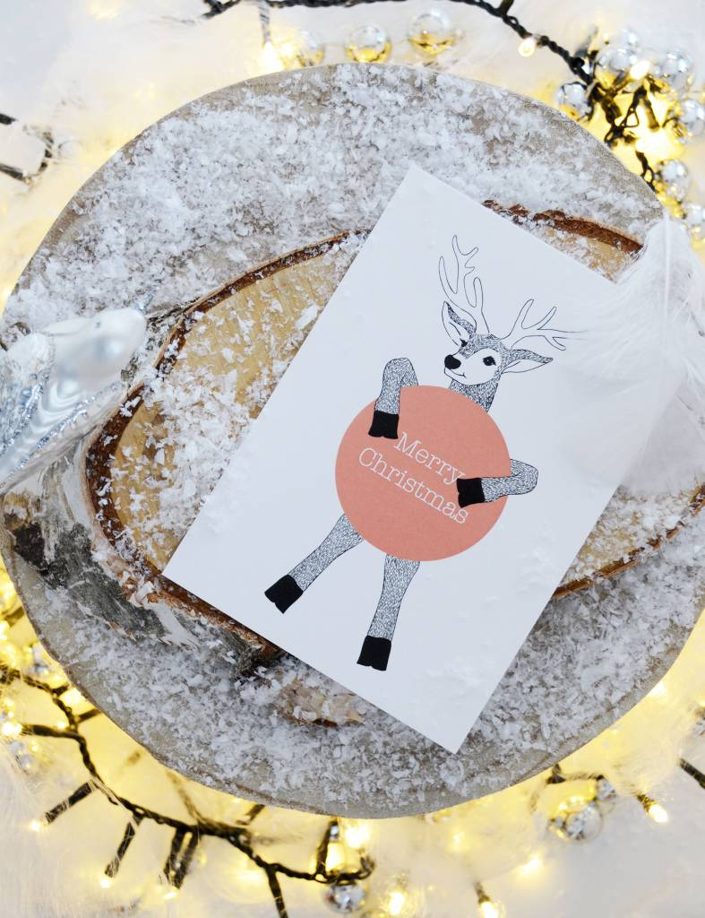 """Wenskaart - Kerst - """"Merry Christmas"""""""