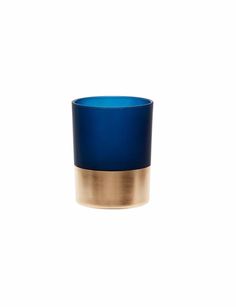 Theelicht Hübsch blauw met goud