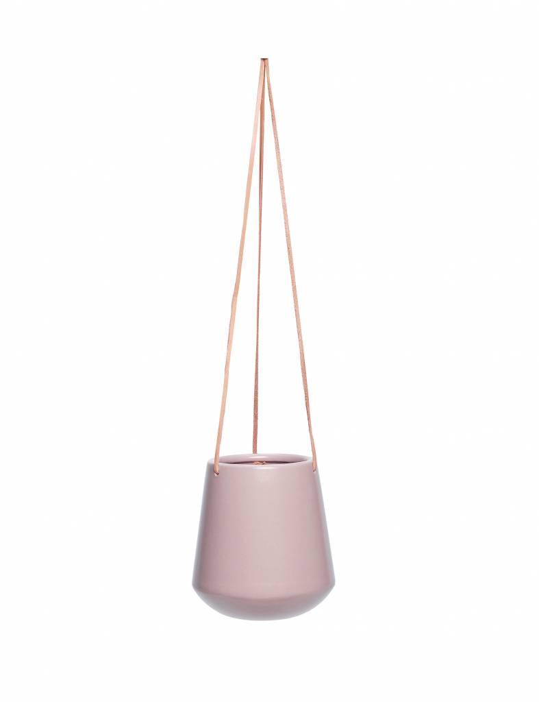 Set van 2 roze hangpotten - Hübsch