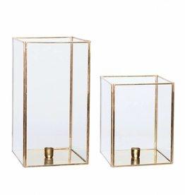Set van 2 gouden lantaarns