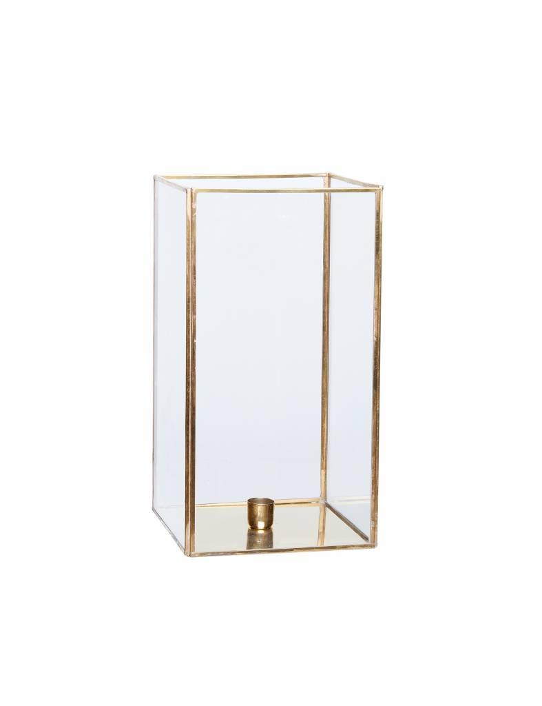 Gouden lantaarns Hübsch - Set van 2