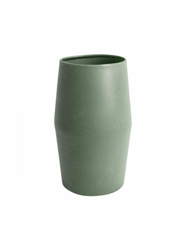 Groene 'Nimble kink' vaas van Present time