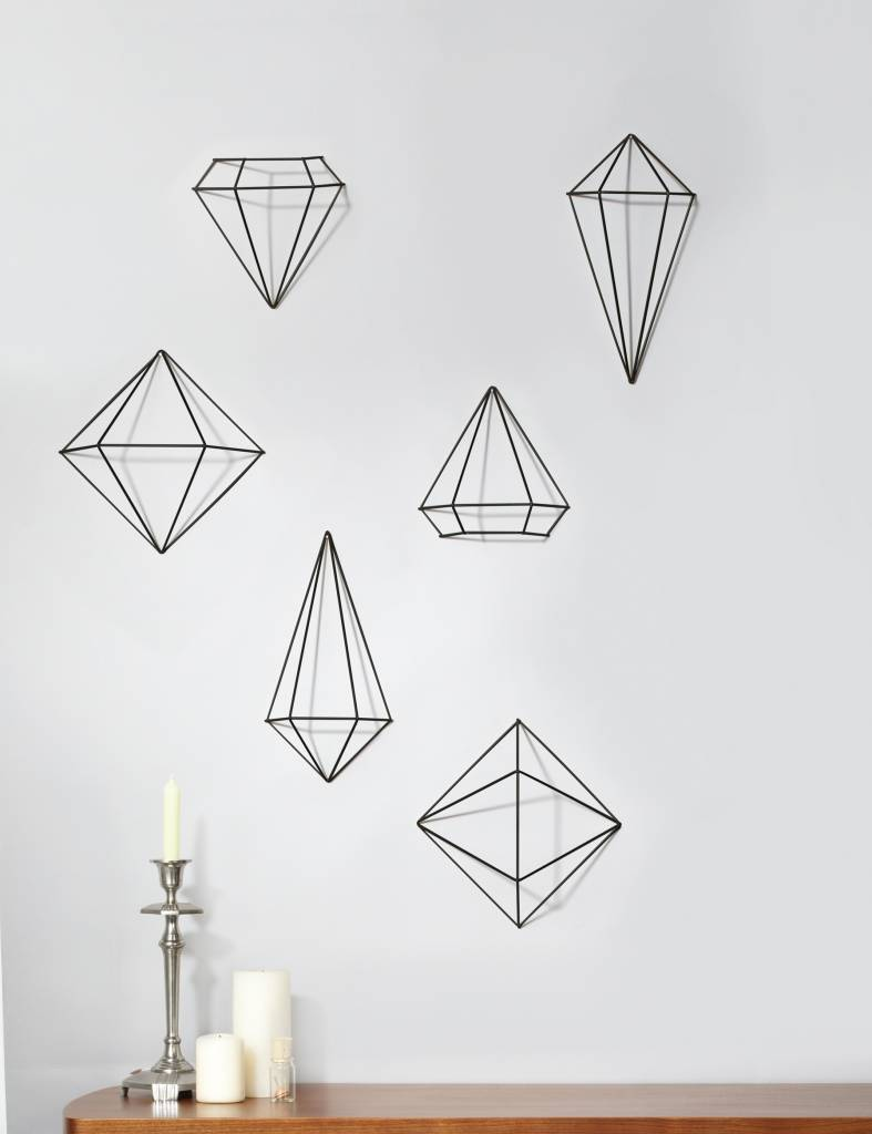 Umbra Zwarte 'Prisma wall decor' van Umbra