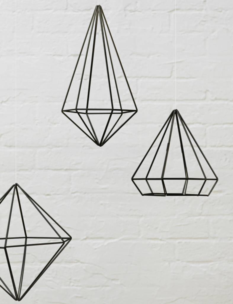 Zwarte 'Prisma wall decor' van Umbra