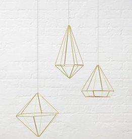 Gouden prisma wall decor