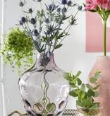 Roze glazen vaas - Hübsch