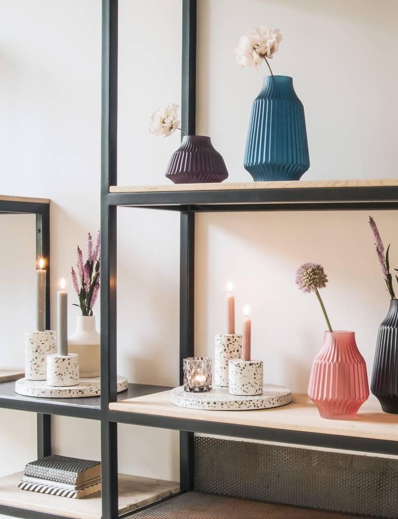 Terrazzo kaarshouder small voor kaarsen van Present time