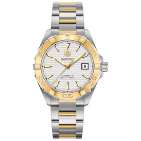 Tag Heuer Aquaracer Automatic White Dial Steel and 18kt Yellow Gold Men's Watch
