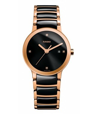 RADO Centrix Jubile Ceramic Rose Gold-tone Ladies Watch R30555712
