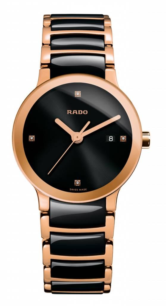 RADO Centrix Jubile Ceramic Rose Gold-tone Ladies Watch R30555712