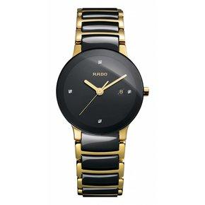 RADO Centrix Jubile Black Dial Two Tone Ceramic Watch